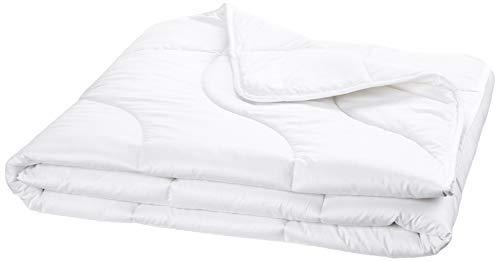 Traumnacht Komfort Steppbett Mono, für den übergang, mit einem Baumwollbezug für ein optimales Schlafklima in 155 x 220 cm, weiß