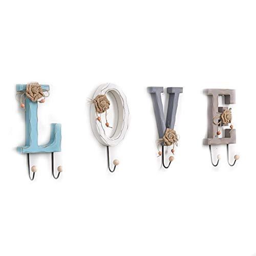 LOVE/HOME Carta Ganchos colgar pared, Alfanuméricos