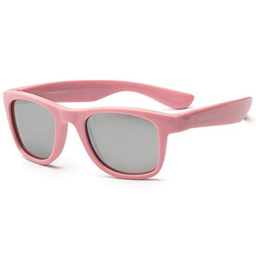 Koolsun Baby Sonnenbrille Kinder Wave Fashion Pink Sachet Verspiegelt, 1-3 Jahre