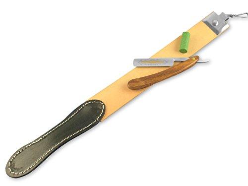 Rasiermesser Set EXTRA ROBUSTER Abziehleder Rasiermesser Goldätzung 5.8 Zoll + Paste aus Solingen