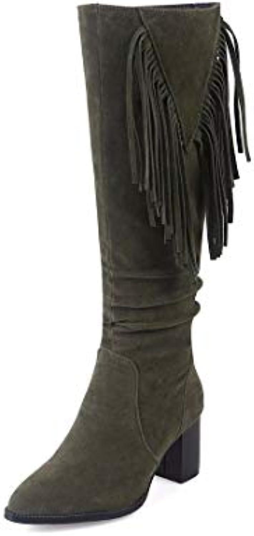 AIKAKA Donne Donne Donne Autunno e Inverno Europa e America Sexy Stivali da Cavaliere Caldi Stivali con Tacco Alto Stivali | Costi medi  eefbe6