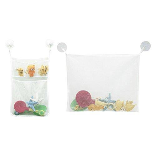 2PCS KIDS Baby Badewanne Spielzeug Aufbewahrung Mesh Saugnapf Tasche -
