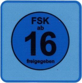 20 Stück FSK 16 Aufkleber / Sticker - FSK ab 16 freigegeben -