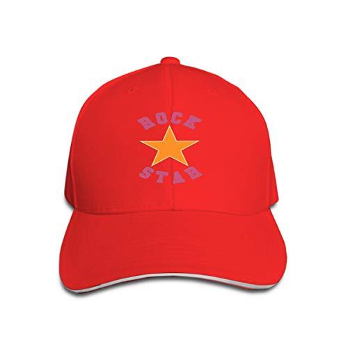Tiger Star Kostüm Rock - Adult Adjustable Structured Baseball Cowboy Hat Rock Star Typography