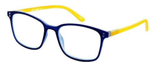Lesebrille Vital-Blau-Gelb-Sph:+2,00