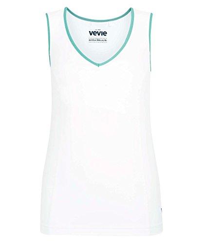 Vevie - T-shirt de sport - Femme Blanc