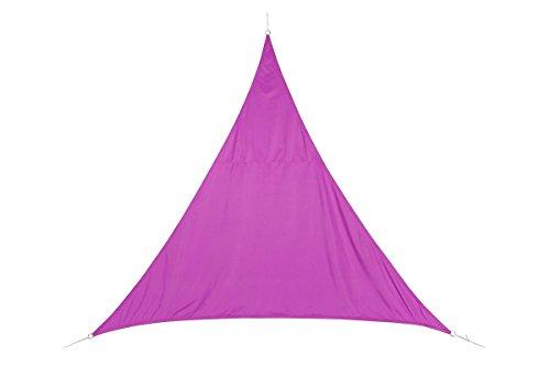 Dreieckiges Sonnensegel 2 x 2 x 2 m aus wasserabweisendem Stoff - Farbe ROSA Himbeere