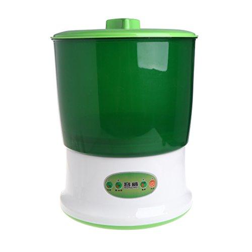 Qiuxiaoaa Épandeur de semences, Auto Household 2 Couches de Machine de germes de céréales de Haricot, Grande capacité 220V, câble Adaptateur Inclus