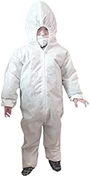 Disposable Protective Coverall Suit for Kids Children Hazmat Safety Coverall Isolation Suit with Hood