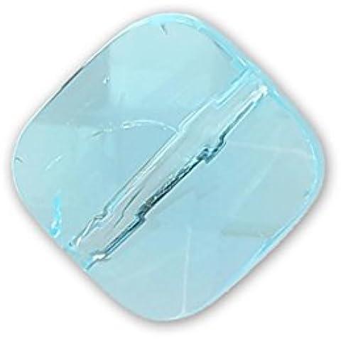 Quadrato sfaccettato mm.10 Aquamarine x1