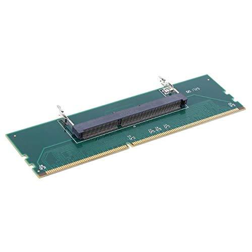 Panamami Grün DDR3 Laptop SO DIMM zu Desktop DIMM Speicher RAM Connector Adapterkarte Nützliche Computerkomponenten Zubehör - Grün