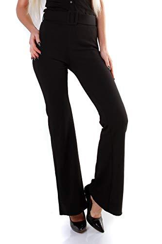 OSAB-Fashion 11226 Damen Hose Flare-Leg Stretch-Hose Schlaghose Verschlusslos -