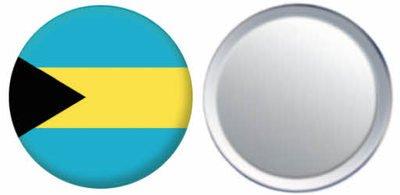 Miroir insigne de bouton Bahamas drapeau - 58mm