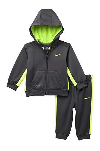 Nike Baby Jungen Ko Therma-Fit Hoodie & Pants Set, Größe: 18Monate (grau)