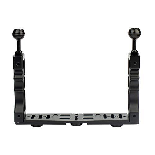 REFURBISHHOUSE Handheld Handle Hand Stabilisator Unterwasser Tauchen Tauchen Anlage/LED Licht Kamera Smartphone -