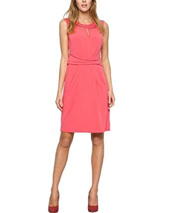 Comma Damen Kleid 89.404.82.5072, Knielang, Einfarbig, Gr. 34, Rosa (lobster)