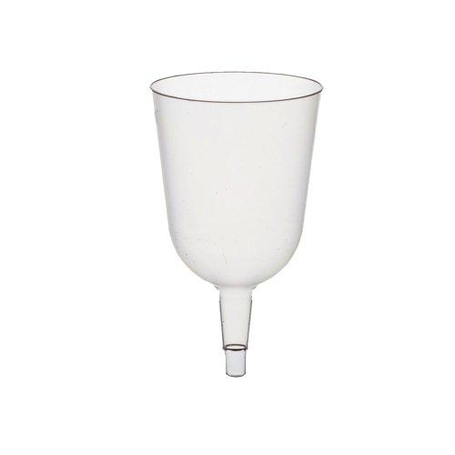 �r Stiel-Gläser / Rotwein, transparent (50 Stück), aus Kunststoff, 0.2 l, Durchmesser 7.3 cm, Höhe 12.5 cm, glasklare Optik für die Party im Freien #12185 ()