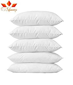 Aricca Micro Fiber Compressed Packed Bliss Pillow (White) - Set of 5