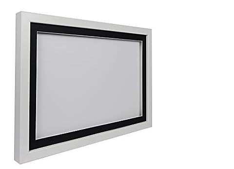Vivarti TrueBox 3D Shadow Display Picture Frame A2 42 x 59.4cm - White Frame, Black Mount, White Backing Card