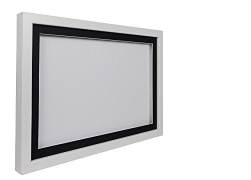 Vivarti truebox 3D Shadow Display Bilderrahmen A329,7x 42cm, weißer Rahmen, schwarzes...
