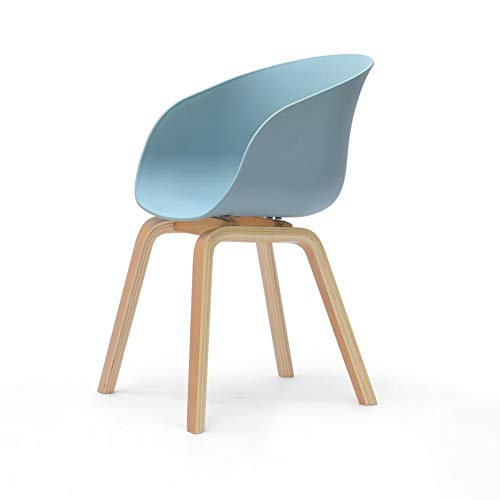 ECSD Maître Conçu Chaise en Bois Massif Jambes Loisirs Chaise Dossier Chaise Personnalité Studio Chaise Chat Chaise (Couleur : Bleu)