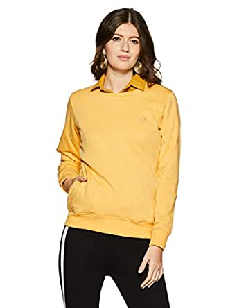 Qube By Fort Collins Women's Sweatshirt (304 SMU_Yellow_M)