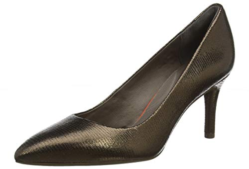 Rockport Damen Total Motion 75mm Pointy Toe Plain Pump Pumps, Beige (Pale Bronze 004), 38 EU Pointy Pumps