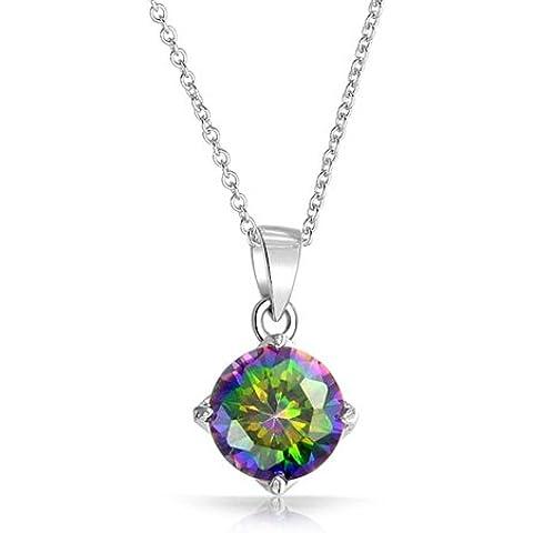 Bling Jewelry Collana del pendente Mystic Topaz