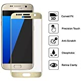 Helix 5D 9H Tempered Glass Full Screen Coverage Tempered for Samsung Galaxy S7 - Gold
