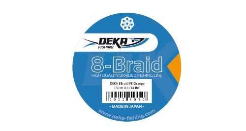 Deka 8-Braid PE Orange 150 m 0.8 (16 lbs)***8-Fach Geflochtene Angelschnur\'***hohe Wurfweiten***geringe Dehnung***