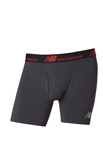 New Balance bdquo;Dry Fresh&ldquo, Boxer-Slips für Herren, 2er-Pack Größe L Black/Striated - Briefs-pack Leistung Boxer