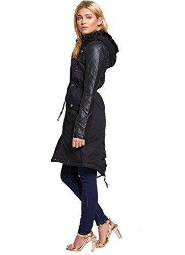 Janisramone - Blouson - Trench - Uni - Manches Longues - Femme noir * taille unique Noir