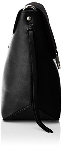 Buffalo - Bag 16bwg-40 Pu Lea Pu Nobuck, Borse a tracolla Donna Nero (Black 01)