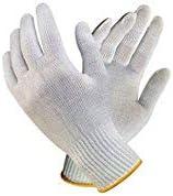 Bon Organik Unisex Reusable Knitted Gloves (White) - Pack of 20