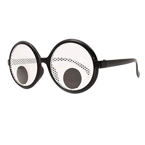 QinMM Lustige Verrückte Kostüm Brille Neuheit Kostüm Party Sonnenbrille Zubehör Niedlichen Spielzeug Festival Klee Gläser
