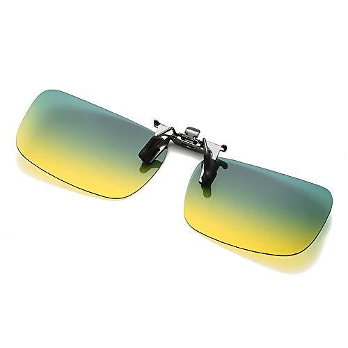 KDSANSO Sonnenbrille Clip On HD Polarisierte Aufsteck Nachtsichtbrille Blendschutz UV400 für Männer und Frauen, S