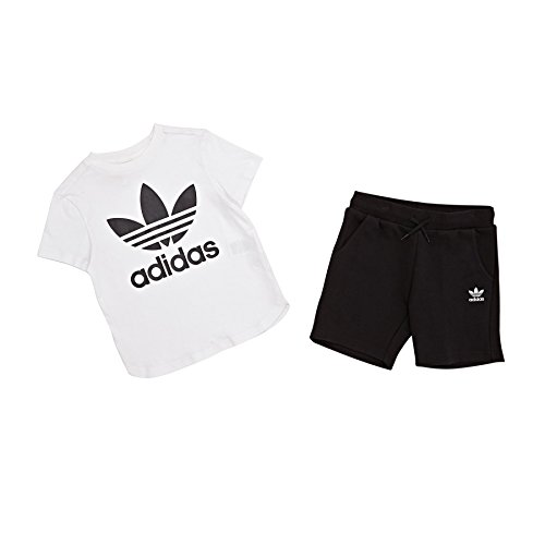 Adidas cf8513Trainingsanzug Kinder M weiß / schwarz