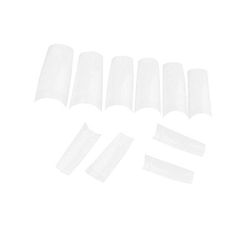 500x Nagel Tips Nail Art French Fingernägel White NEU -