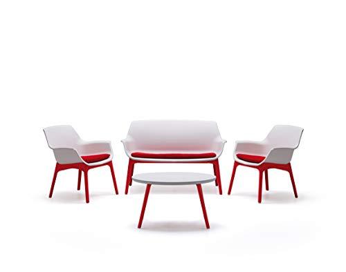 Bica Luxor Lounge Set Weiß/Rot Garten -