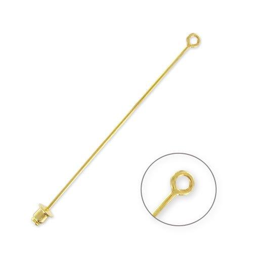 Hutnadel mit Ring 65mm goldfarben x1
