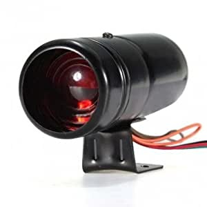 De Bheema réglable Compte-tours RPM Tacho jauge Maj Red Light LED universelle - Black
