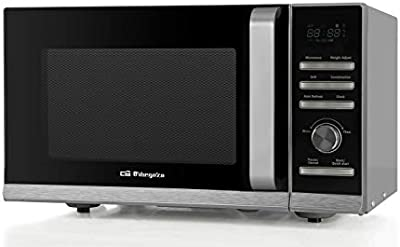 Orbegozo MIG 2327 A - Microondas con grill, 23 litros de capacidad, hasta 36 menús de cocción automática, 6 niveles de potencia, display digital