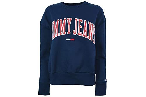Tommy Hilfiger Frauen Rundhals Sweatshirt DW0DW06050 002 TJW CLEAN COLLEGIATE CREW XS Blu (Sweatshirt Tommy Frauen Hilfiger)