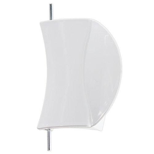spares2go weiß Tür Griff Kunststoff Hebel + Spring Latch & Pin für Bosch WFD Serie Waschmaschine (weiß) -