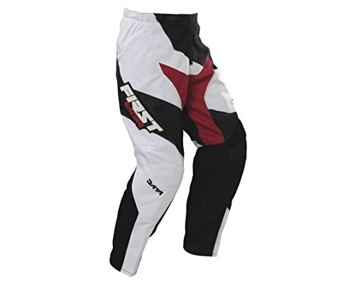 first-racing-pantalon-cross-data-blanc-noir-noir-38us46fr