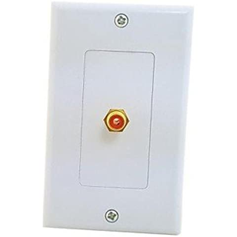 piteng?Imagen Única de panel Cable Coaxial RCA Audio Video hembra a pared placa de cara 118mm 120mm Rectángulo tipo