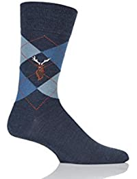 Mens 1 paire Burlington Edinburgh Reindeer brodés Argyle Socks