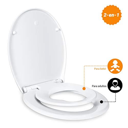Tapa de inodoro Tacklife con cierre suave y asiento infantil por 22,99€ usando el #código: HJMF5FTW