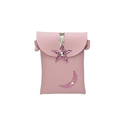 Resplend Frauen Umhängetasche Einfach Messenger Taschen Abdeckungsart Schultertasche Magnetische Schnallen Handtasche Geldbörse (Rose)