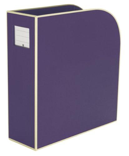 Semikolon (352751) Stehsammler A4 plum (lila) | Zeitschriften-Sammler und Dokumenten-Ordner | Für A4 | Format: 10,5 × 26,0 × 31,0 cm